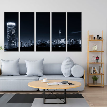 choose your size. Lone Tree Black and White Home Decor Canvas Print