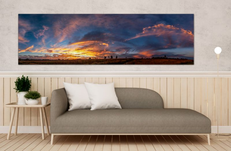 Extra Wide Panoramic Landscape Canvas Print
