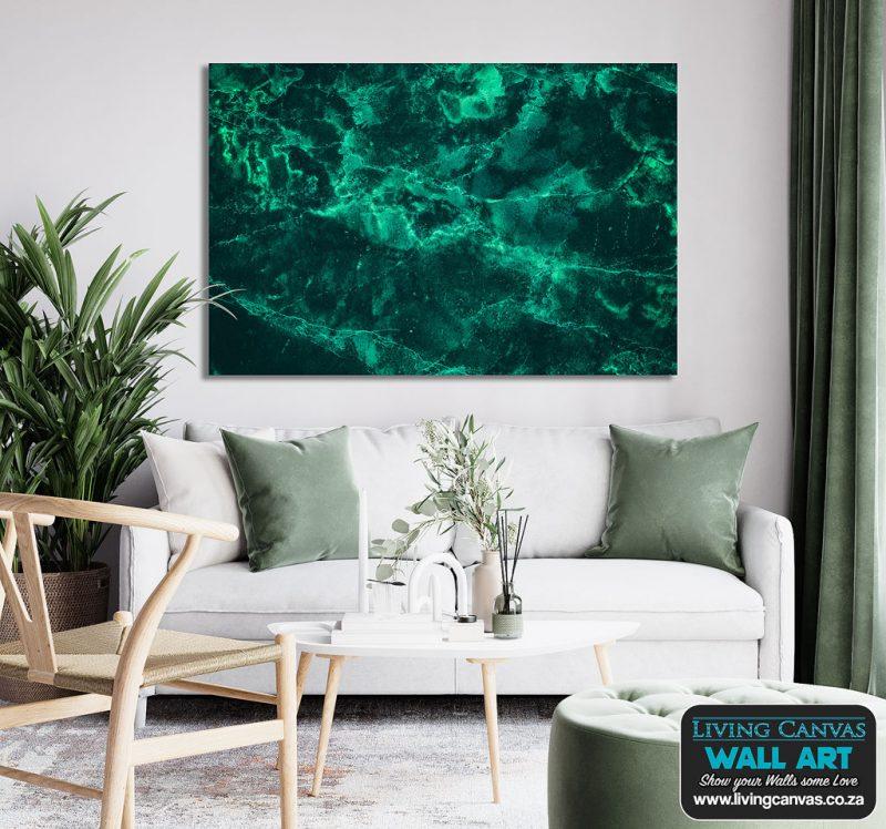 Green Marble Canvas Decor Wall Art Pix